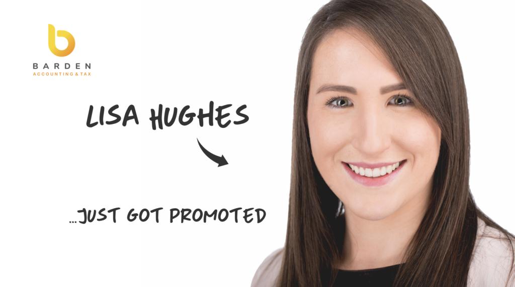 Good News Story...Lisa Hughes Just Got Promoted