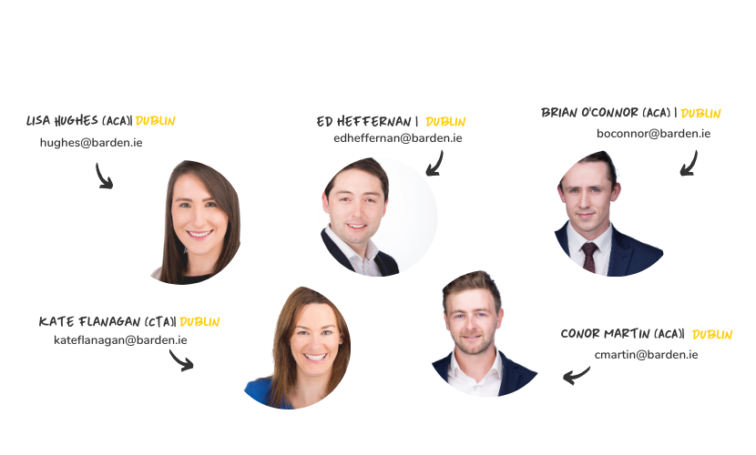 Barden's Recently Qualified Accountants Team - Dublin